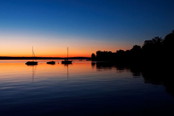 Abends am See I