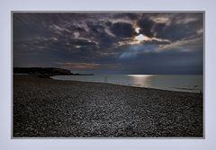 Abends am Strand von Mers-les-Bains