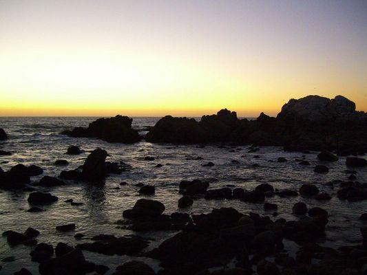 Abends am Strand von Reñaca