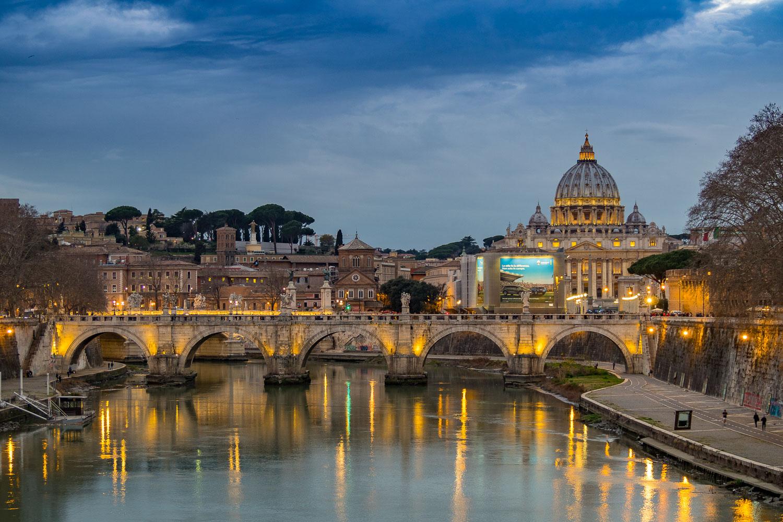 Abends am Tiber