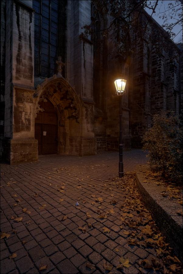 Abends an der Moritzkirche