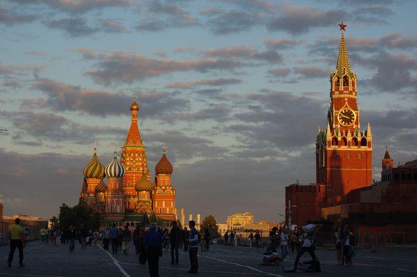 abends auf dem Roten Platz