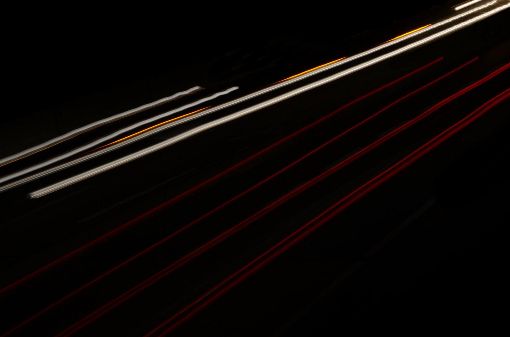 Abends auf der Autobahn