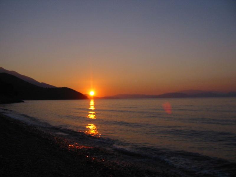 abends-Blick auf Samos