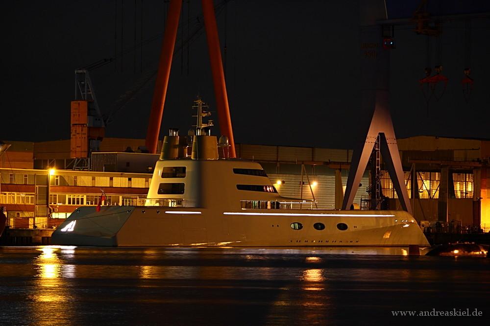 Abends im Kieler Hafen