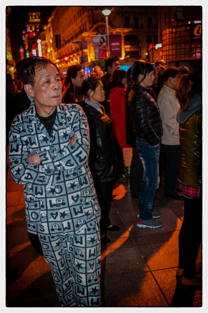 abends in den Strassen von Shanghai...