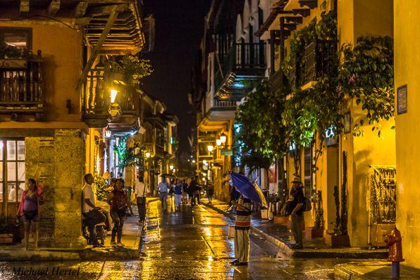 Abends in der Altstadt von Cartagena