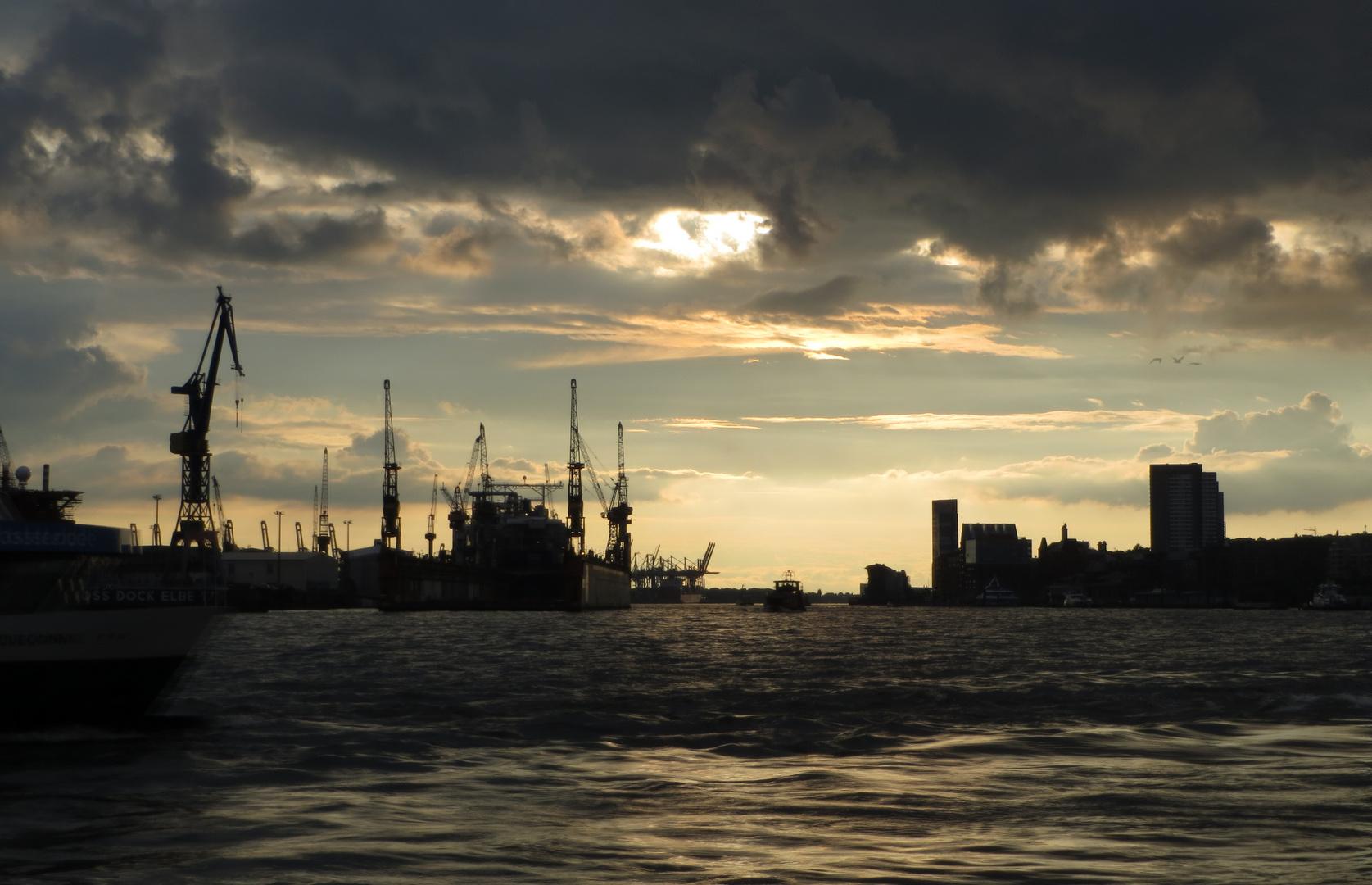 Abends in Hamburg