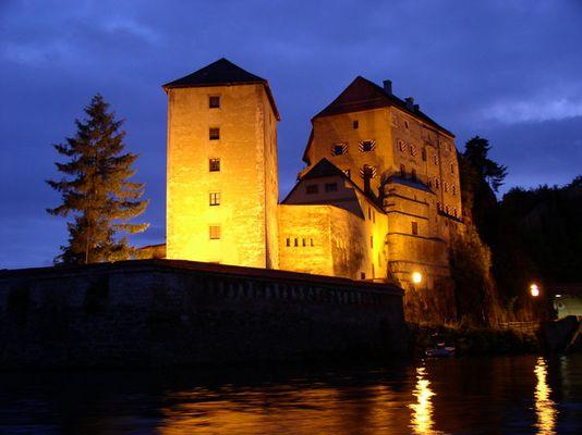 Abends in Passau, Ilzmündung