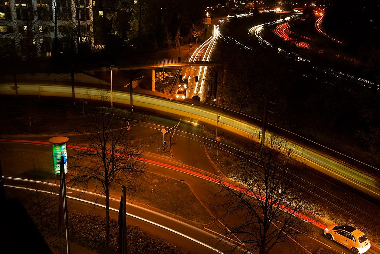 Abends um 8 in Düsseldorf