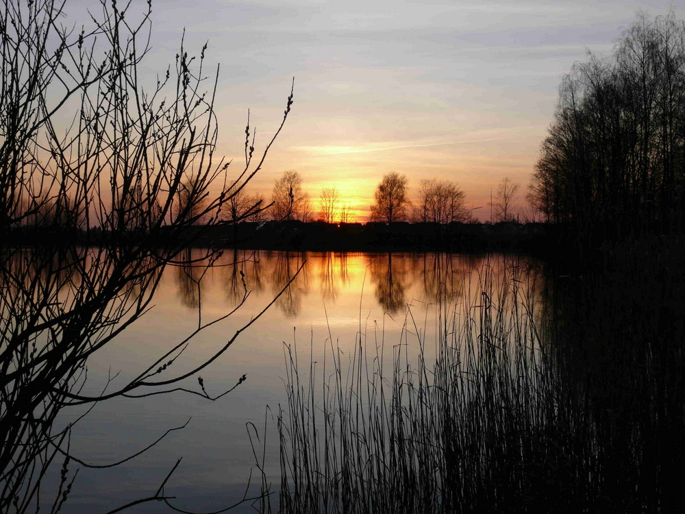 Abends wirds rot am Baggersee