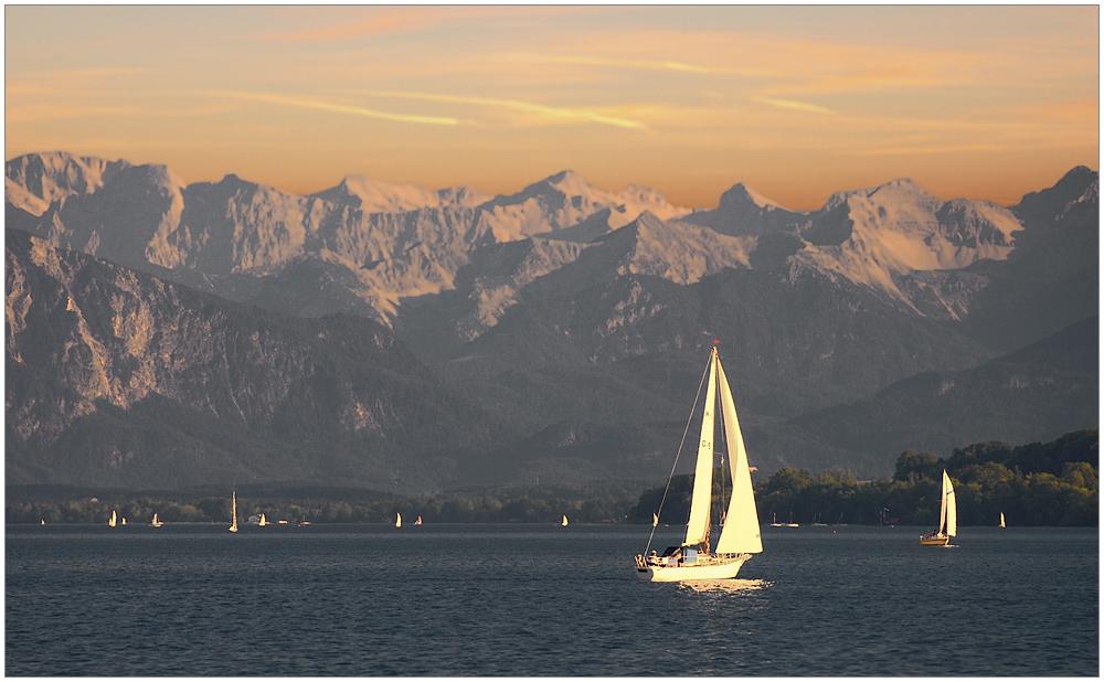 Abendsegeln am Starnberger See