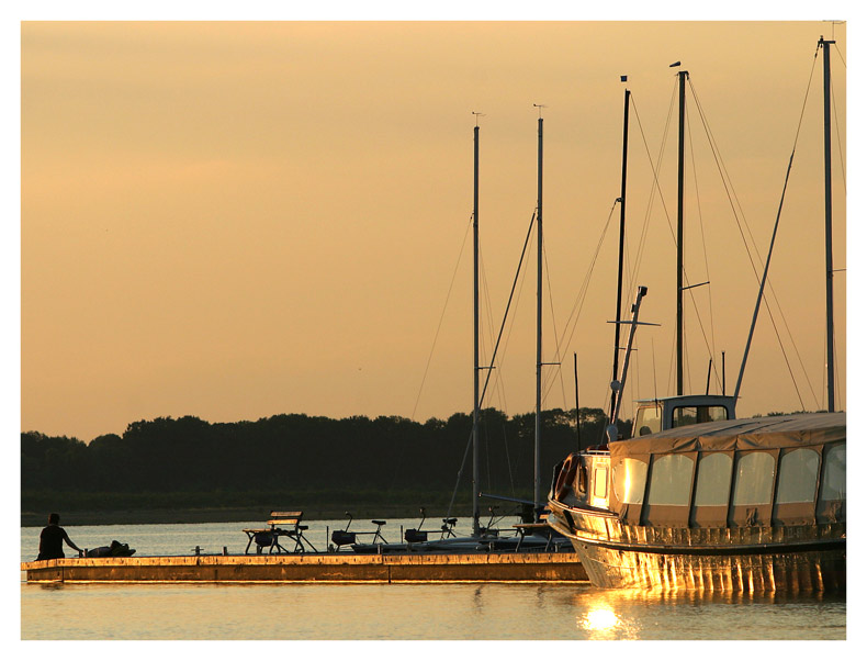 Abendsonne am Cospudener See
