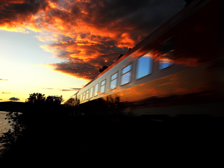 Abendsonne auf dem Zug