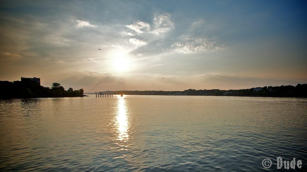 Abendsonne auf der Elbe
