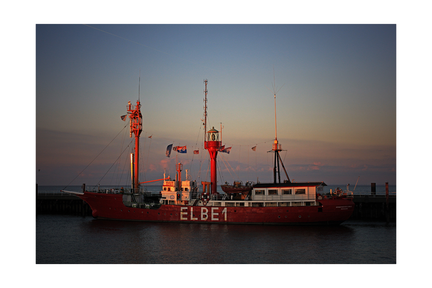 Abendsonne auf Elbe 1