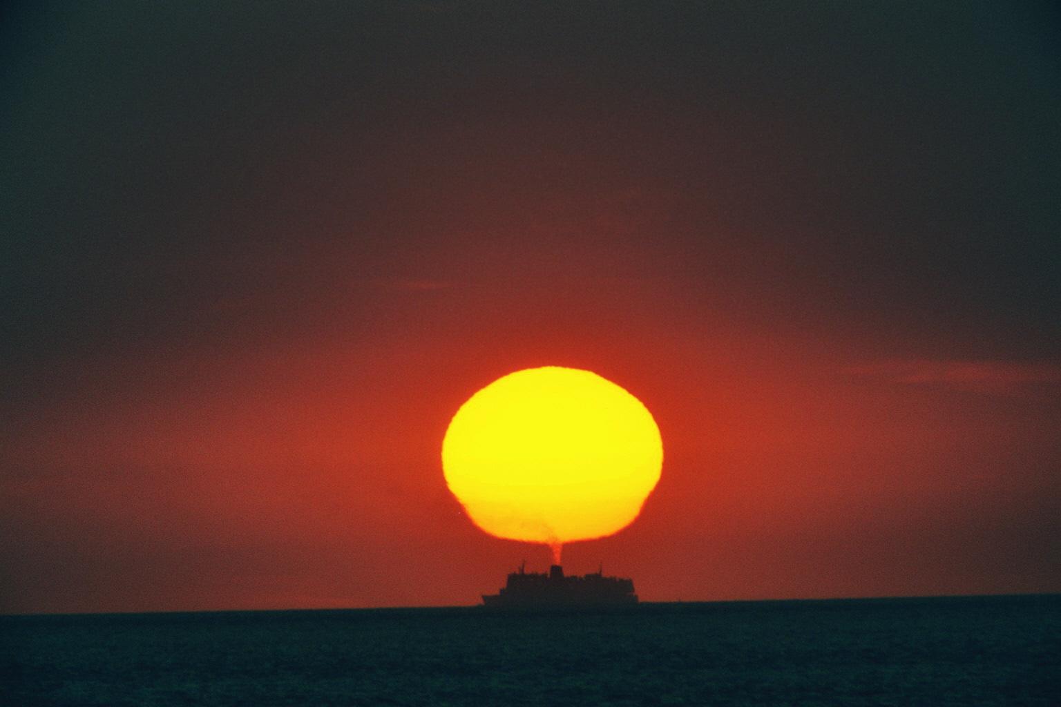 Abendsonne & Dampfer