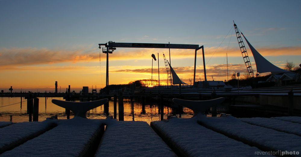 Abendsonne im Hafen