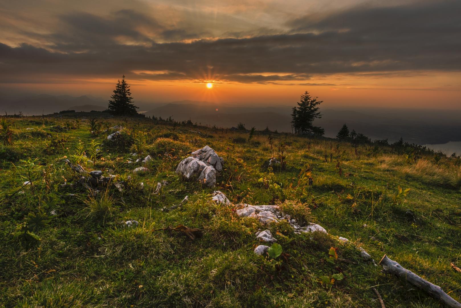 Abendsonne in den Alpen