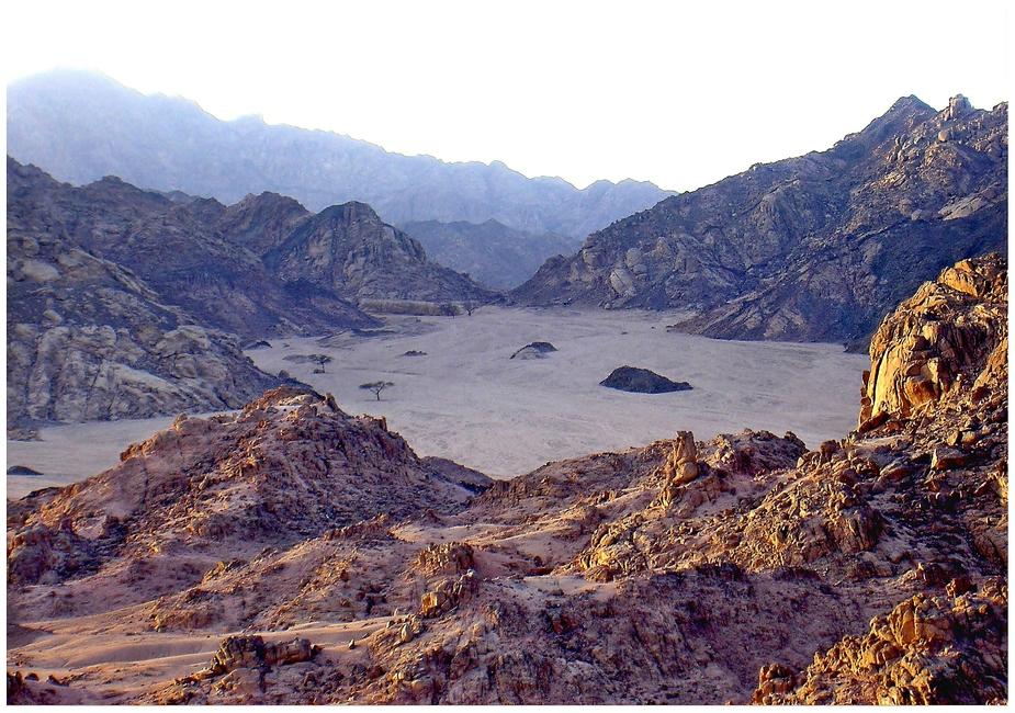 Abendsonne in der Wüste