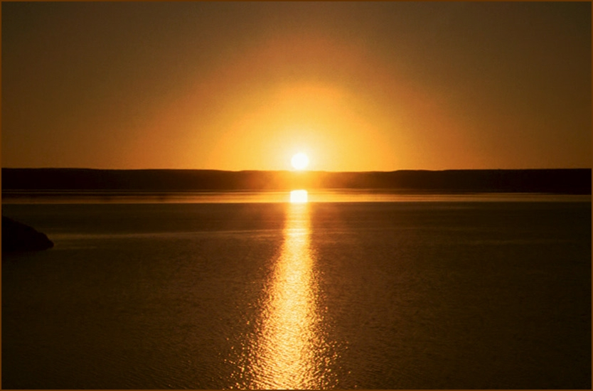 Abendsonne in Namibia