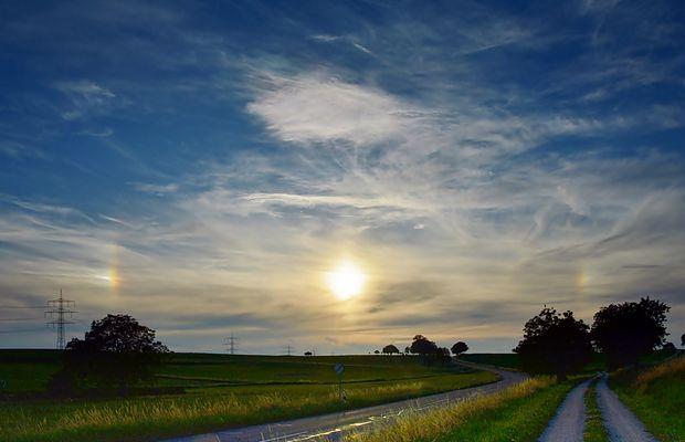 ~~~ Abendsonne mit Nebensonnen ~~~