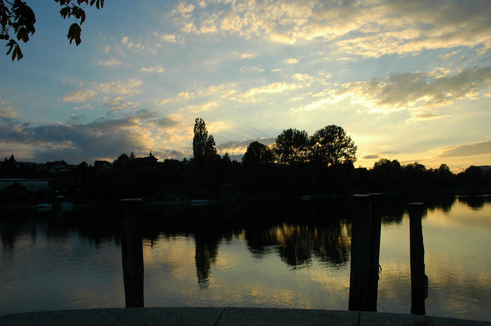 Abendsonne über dem Städtchen