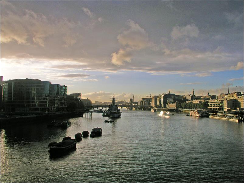 Abendsonne über London
