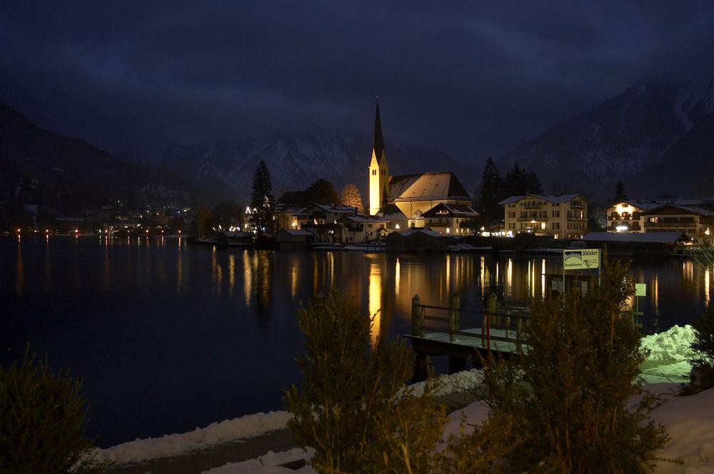 Abendspiegelung am Tegernsee