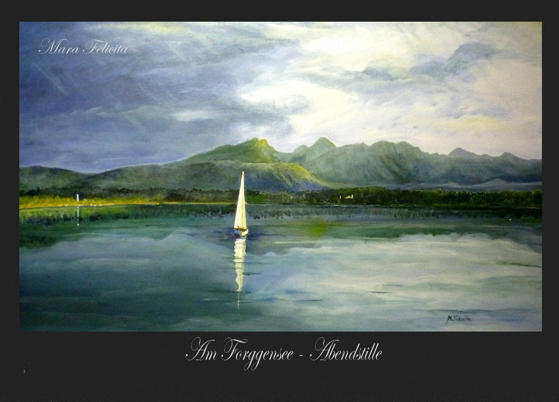 ABENDSTILLE AM FORGGENSEE - Gemälde