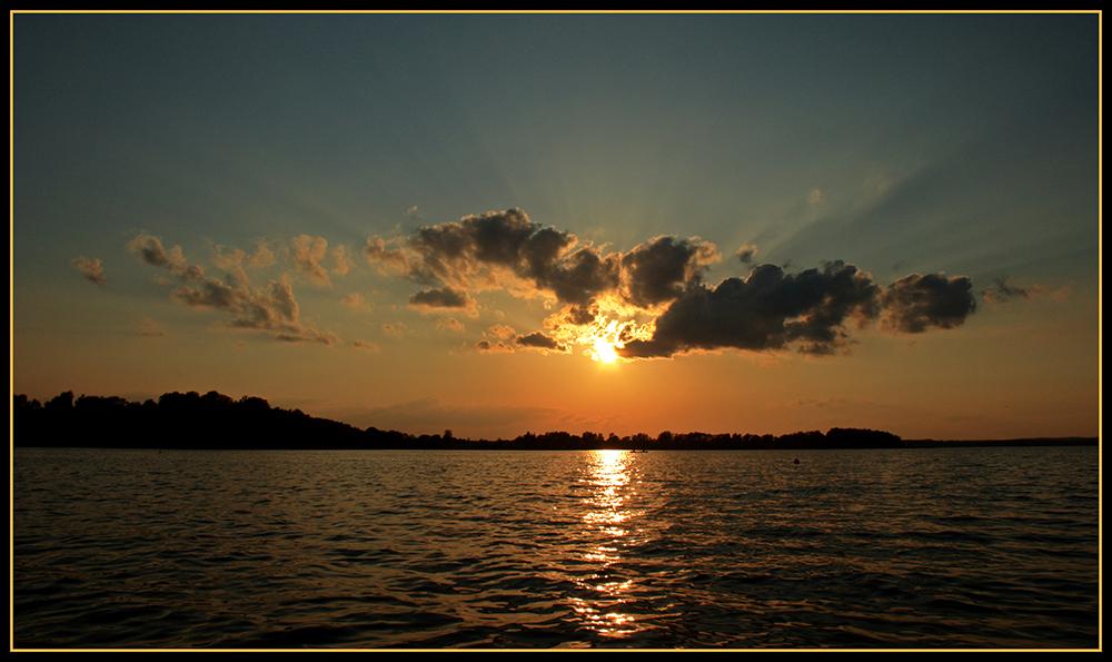 Abendstimmun g am Parsteiner See