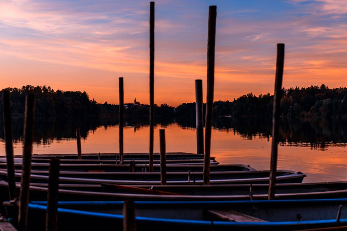 Abendstimmung am Abtsdorfer See
