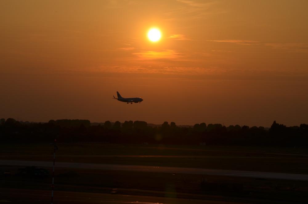 Abendstimmung am Airport