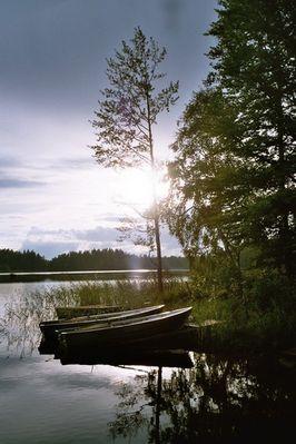 Abendstimmung am Asnensee / Schweden
