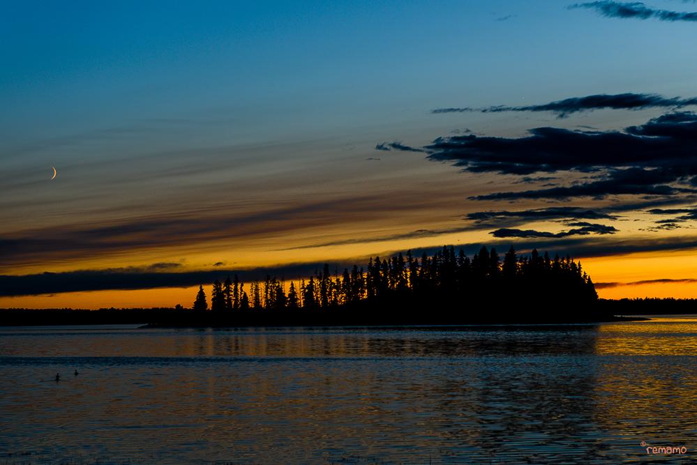 Abendstimmung am Astotin Lake