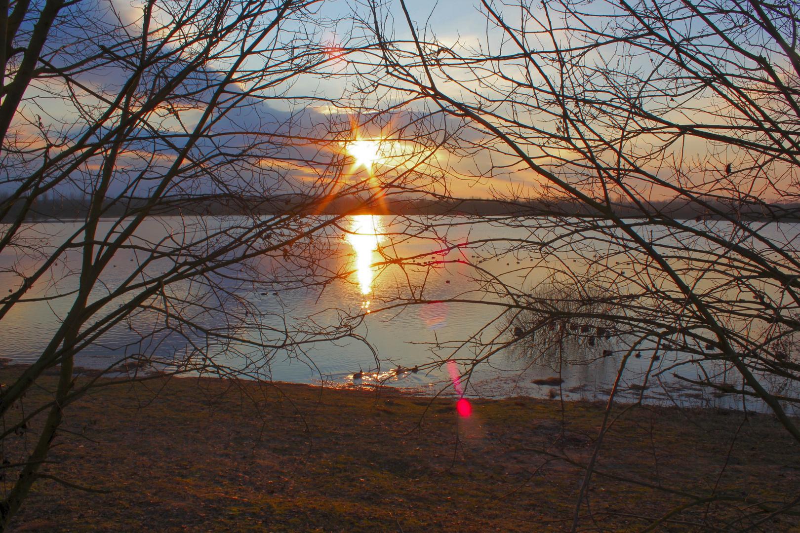 Abendstimmung am Boisdorfer See