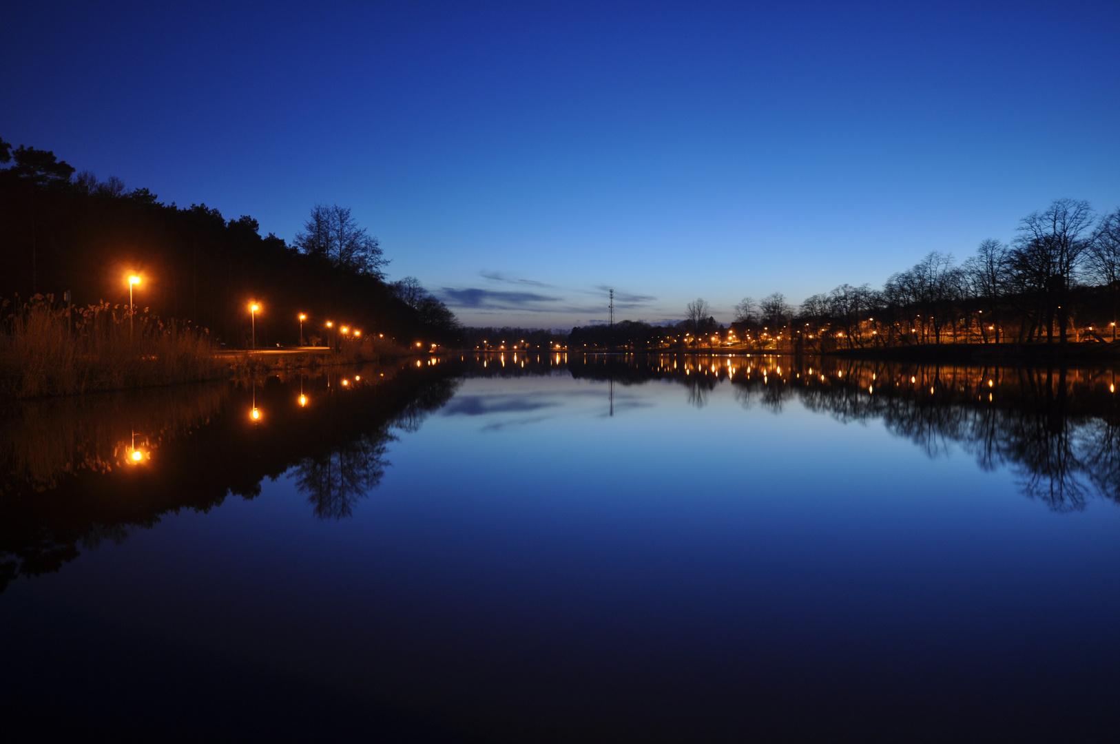 Abendstimmung am Creutzwalder See