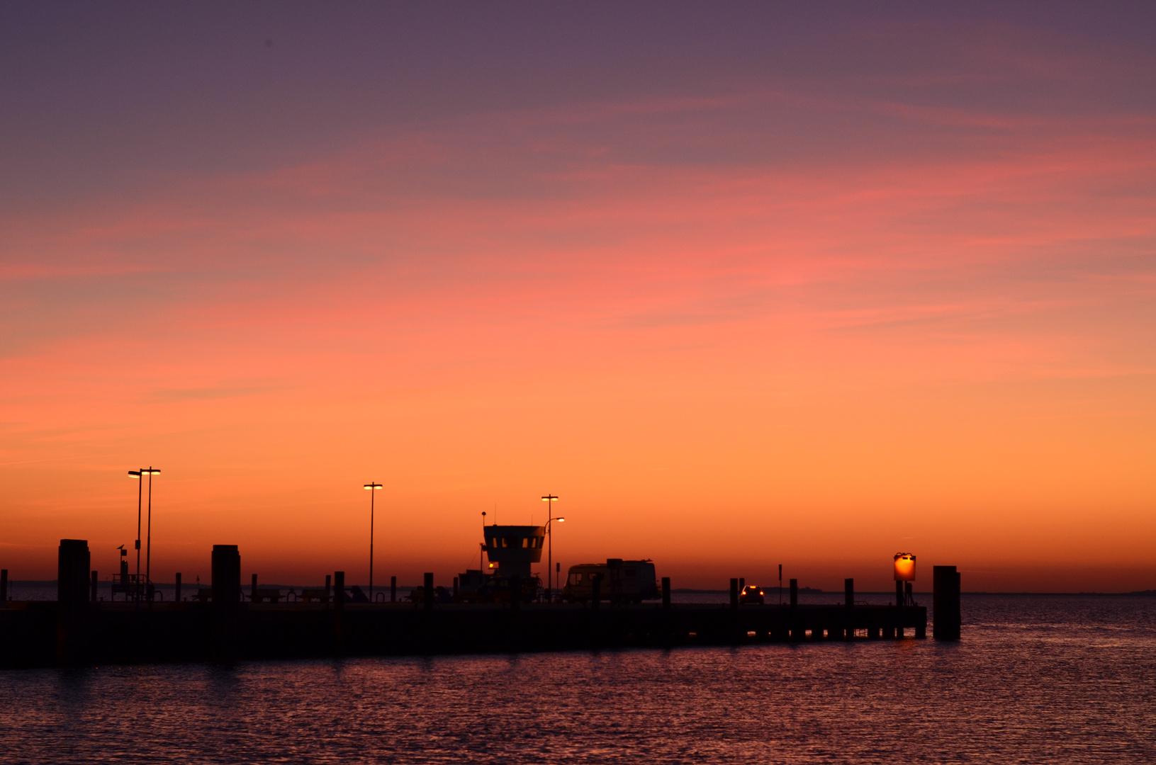 Abendstimmung am Dagebüller Hafen