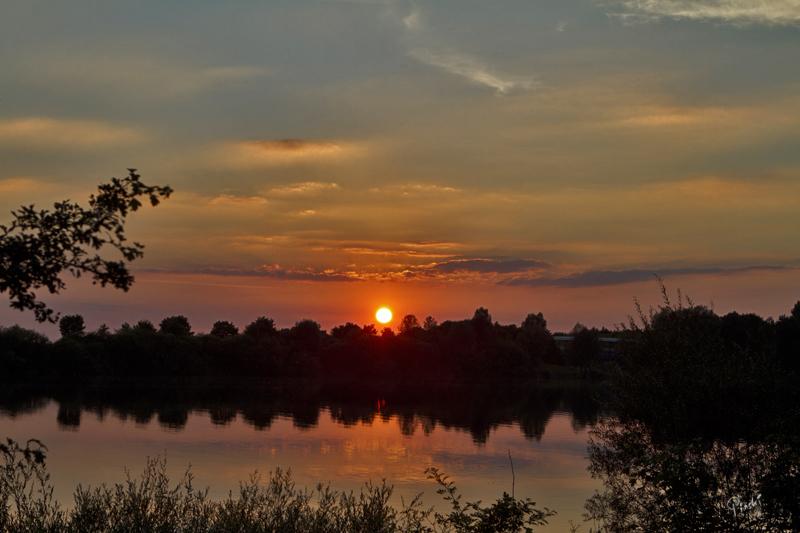 Abendstimmung am Echinger See.