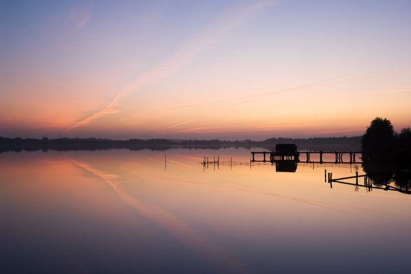 Abendstimmung am Flögelner See