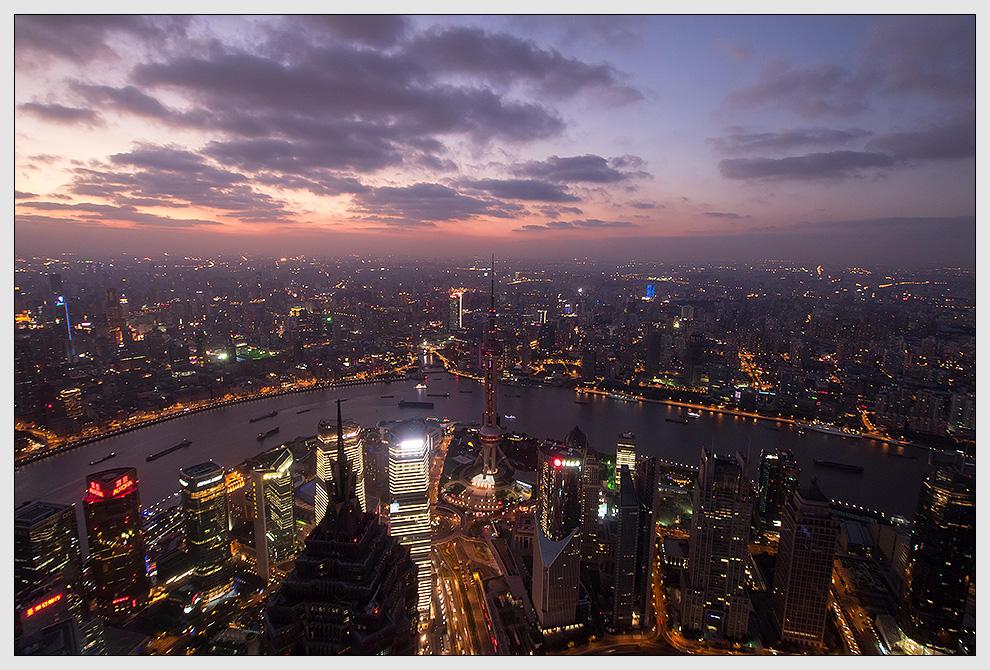 Abendstimmung am Huangpu