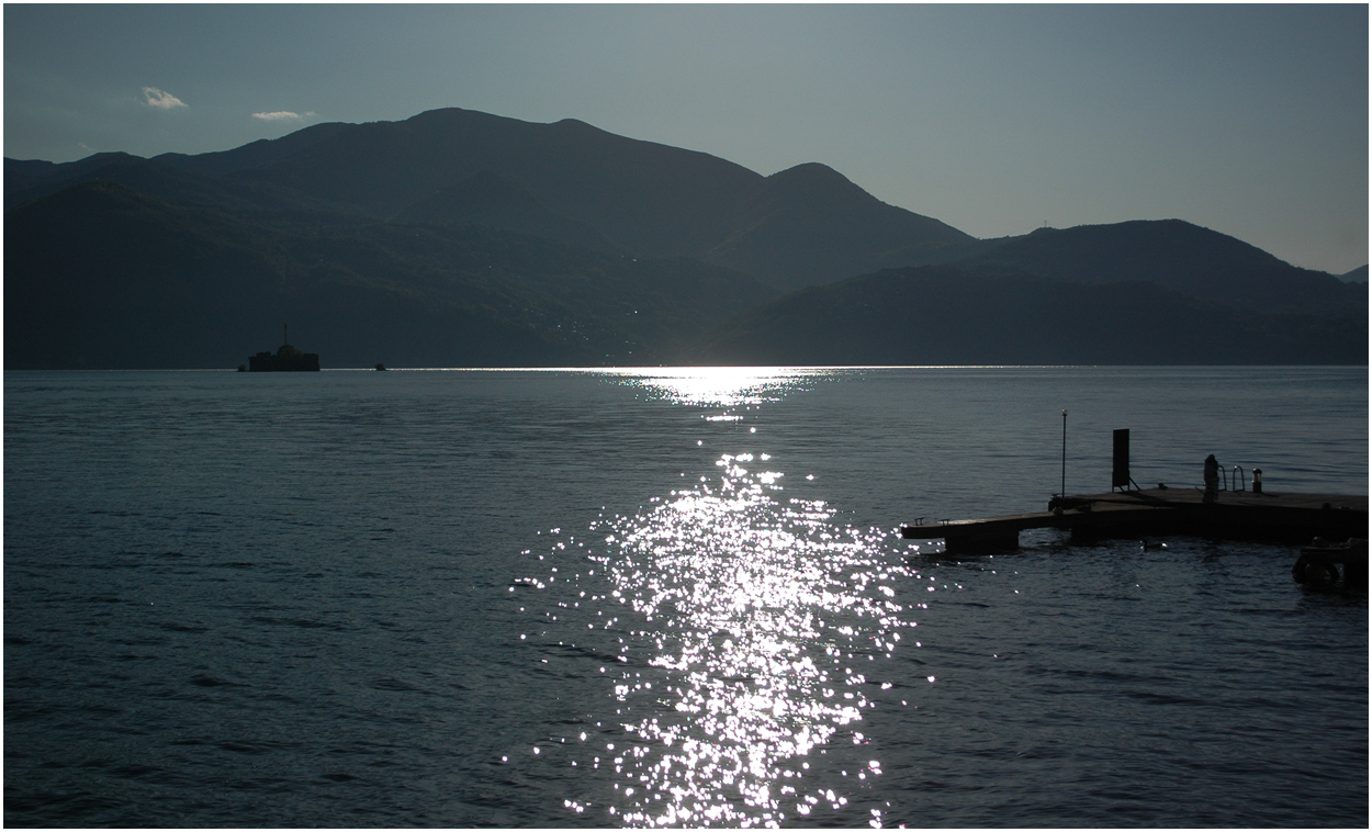 Abendstimmung am Lago Maggiore*