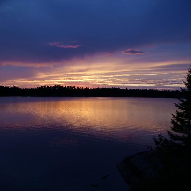 Abendstimmung am Lake Manitoba / Canada