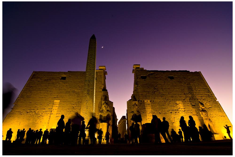 Abendstimmung am Luxor-Tempel