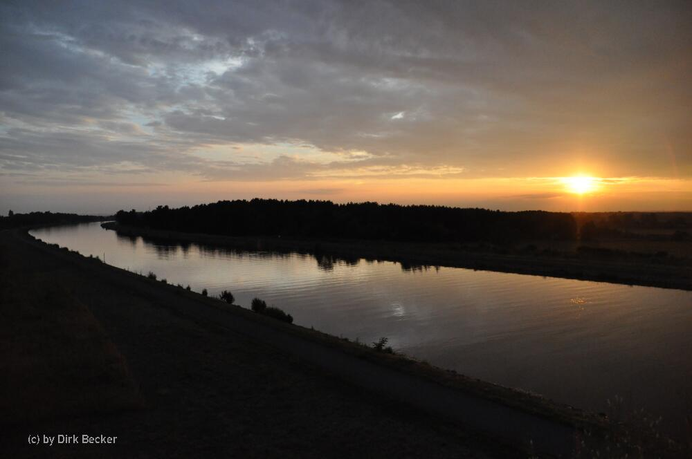 Abendstimmung am Mittellandkanal