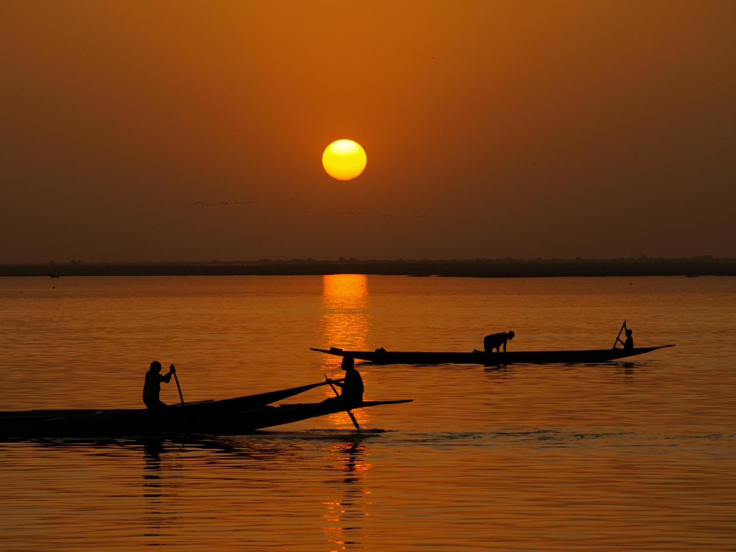 Abendstimmung am Niger