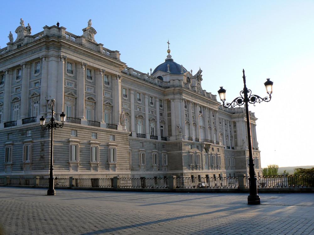 Abendstimmung am Palacio Real