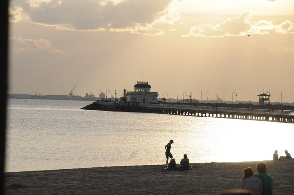 Abendstimmung am Peer / Melbourne