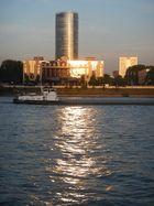 Abendstimmung am Rhein/Köln