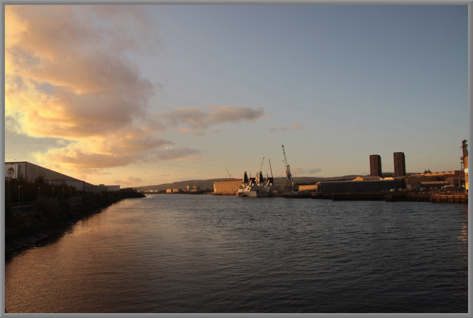 Abendstimmung am River Clyde